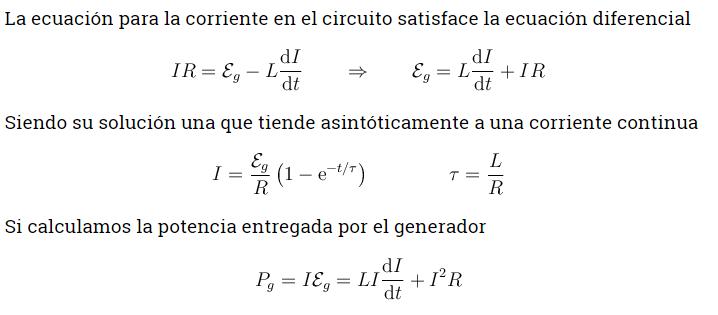 Formula de la energía magnética 1