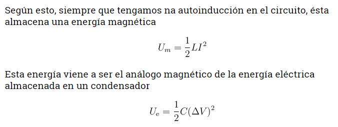 Formula de la energía magnética 2